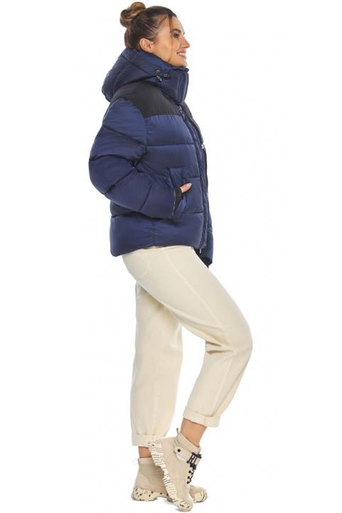 """Сапфировая куртка с фирменной фурнитурой женская зимняя модель 57520 Braggart """"Angel's Fluff"""" фото 1"""