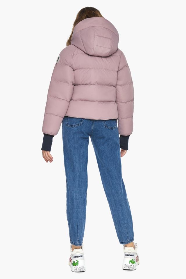 Куртка из дизайнерского полотна на подростка девочку пудровая модель 26370 Youth фото 5
