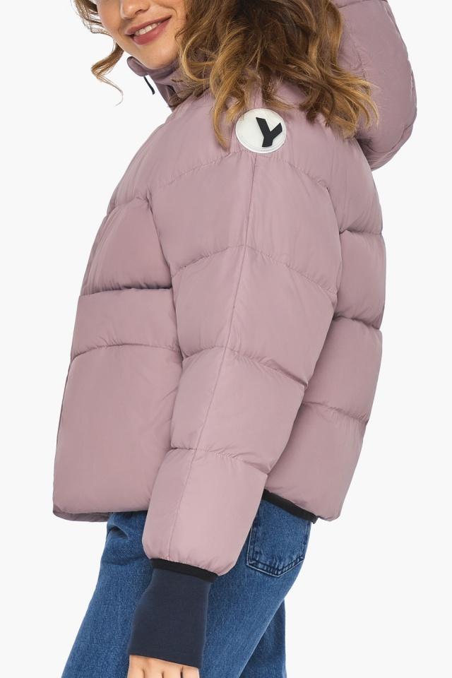 Куртка из дизайнерского полотна на подростка девочку пудровая модель 26370 Youth фото 6