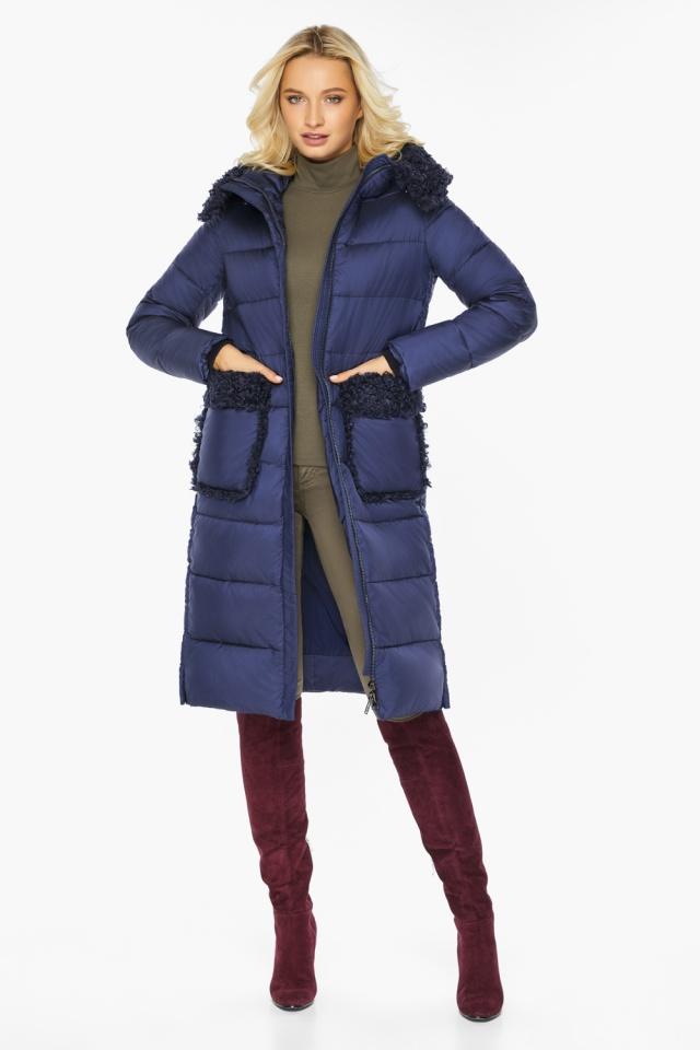 "Куртка женская на молнии зимняя цвет синий бархат модель 47575 Braggart ""Angel's Fluff"" фото 3"