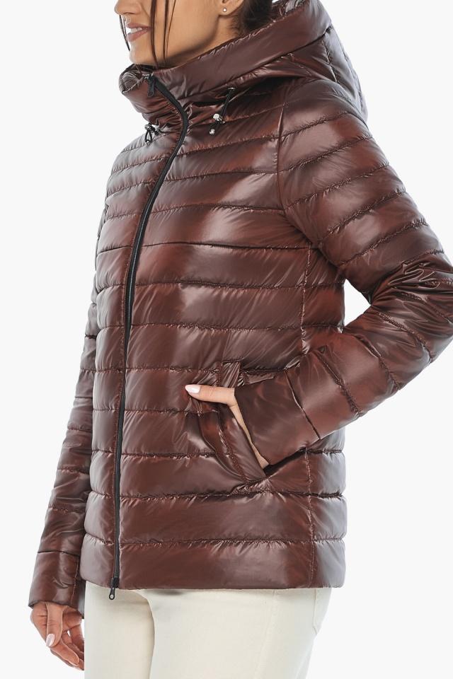 """Осенне-весенняя куртка женская оригинальная каштановая модель 68240 Braggart """"Angel's Fluff"""" фото 8"""