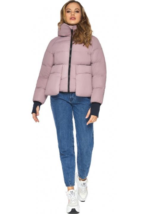 Куртка из дизайнерского полотна на подростка девочку пудровая модель 26370 Youth фото 1
