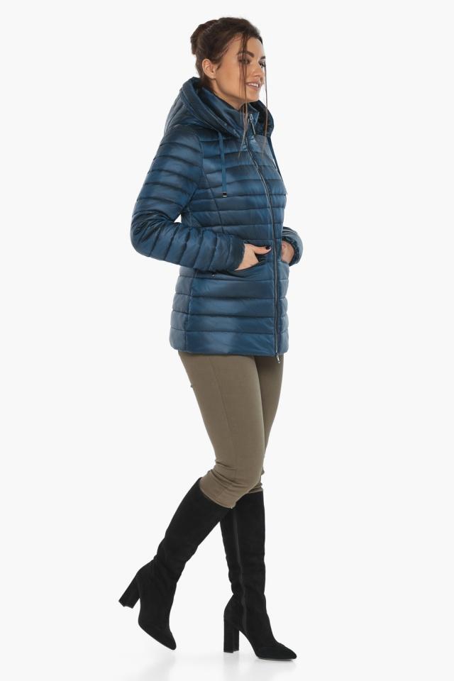 """Куртка женская стильная цвет темная лазурь модель 63045 Braggart """"Angel's Fluff"""" фото 4"""