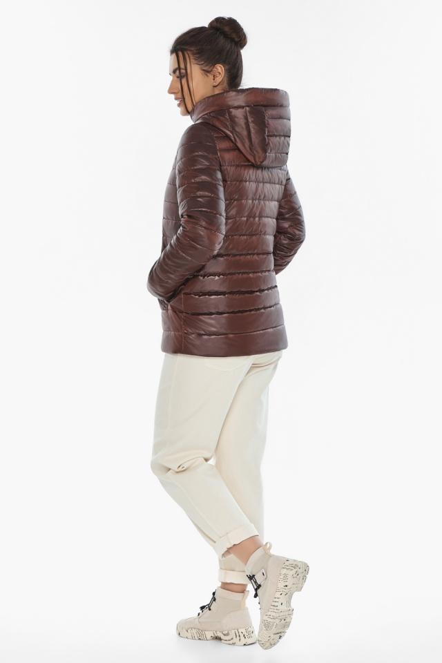 """Осенне-весенняя куртка женская стильная каштановая модель 68240 Braggart """"Angel's Fluff"""" фото 7"""