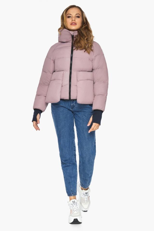 Куртка из дизайнерского полотна на подростка девочку пудровая модель 26370 Youth фото 2