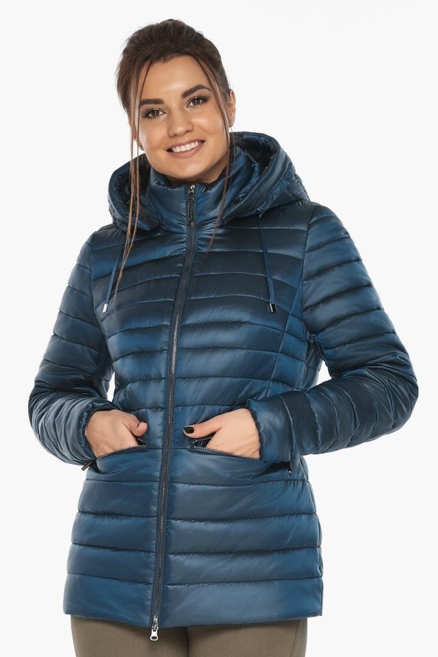 """Куртка женская стильная цвет темная лазурь модель 63045 Braggart """"Angel's Fluff"""" фото 3"""