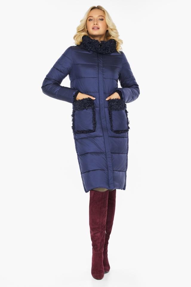 "Куртка женская на молнии зимняя цвет синий бархат модель 47575 Braggart ""Angel's Fluff"" фото 7"