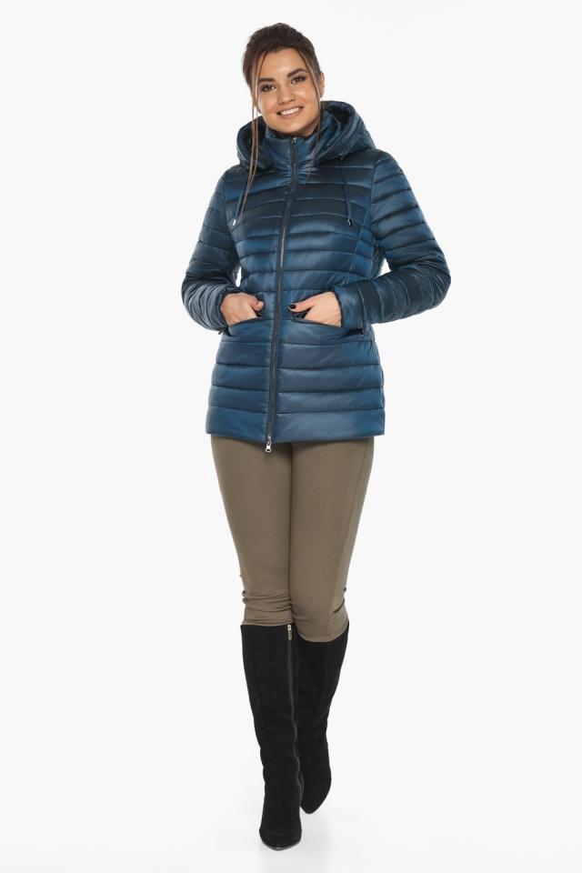 """Куртка женская стильная цвет темная лазурь модель 63045 Braggart """"Angel's Fluff"""" фото 5"""