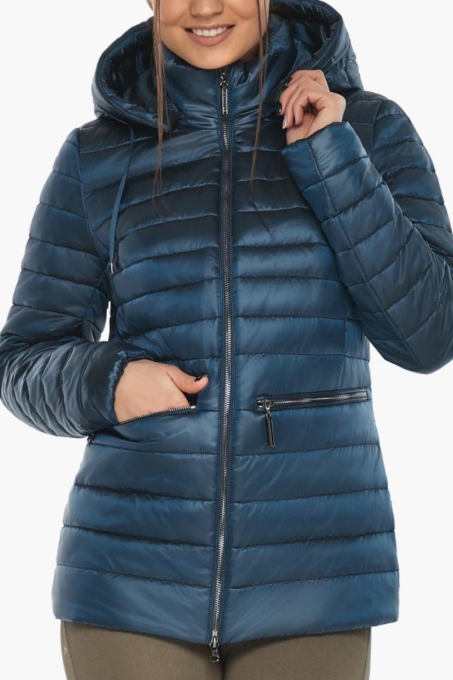 """Куртка женская стильная цвет темная лазурь модель 63045 Braggart """"Angel's Fluff"""" фото 8"""