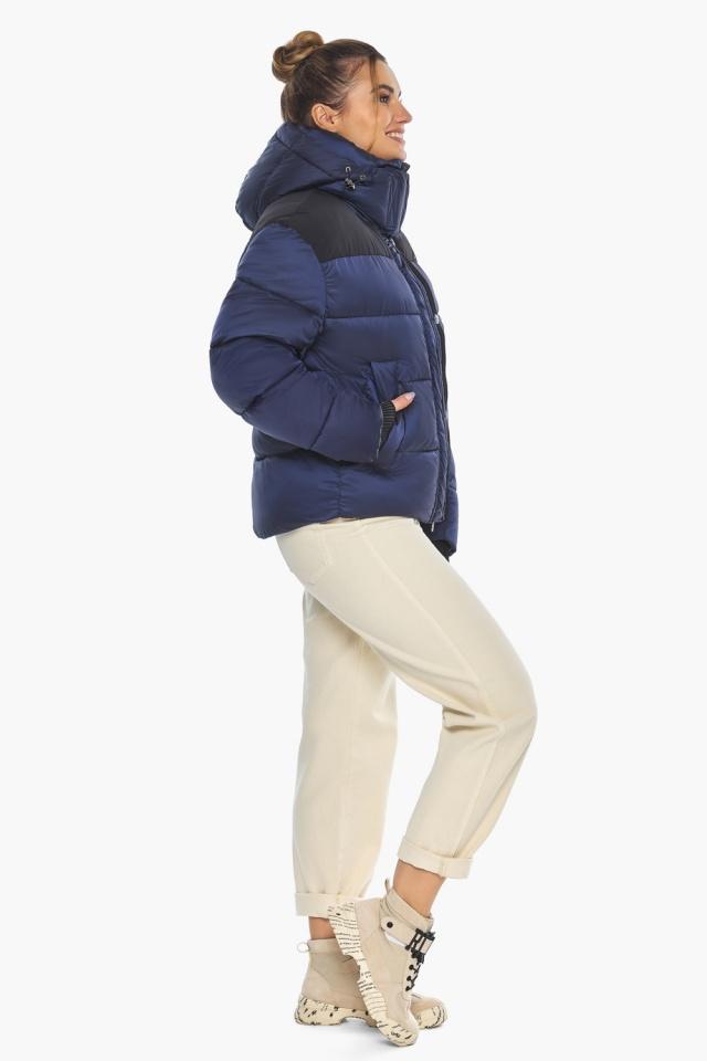 """Сапфировая куртка с фирменной фурнитурой женская зимняя модель 57520 Braggart """"Angel's Fluff"""" фото 2"""