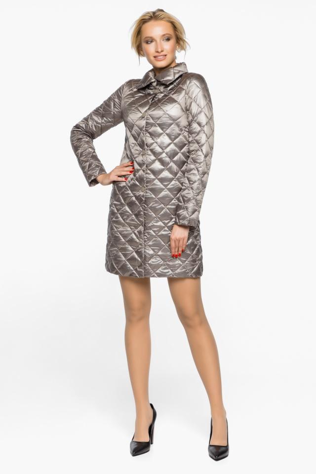 """Куртка женская осенне-весенняя цвет кварцевый модель 20856 Braggart """"Angel's Fluff"""" фото 4"""