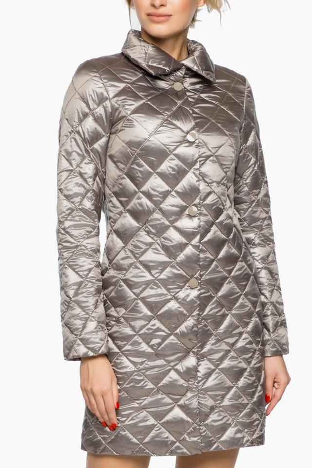 """Куртка женская осенне-весенняя цвет кварцевый модель 20856 Braggart """"Angel's Fluff"""" фото 6"""