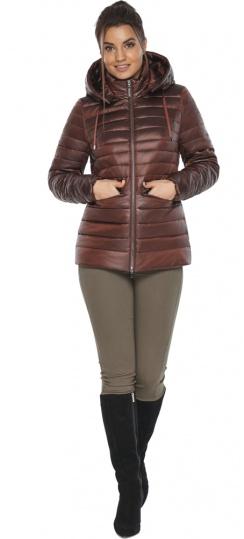 """Куртка комфортная каштановая женская модель 63045 Braggart """"Angel's Fluff"""" фото 1"""