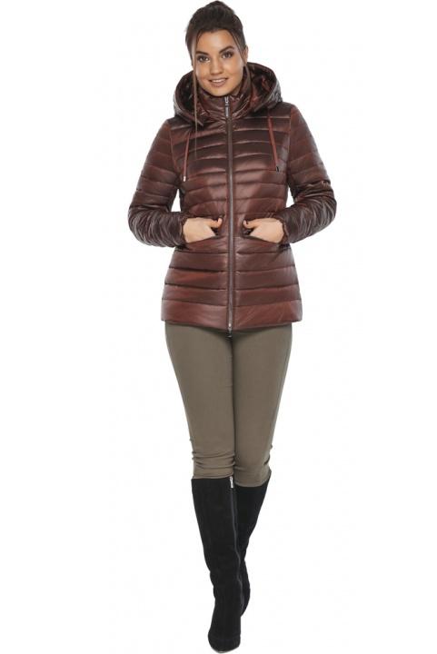 "Куртка комфортна каштанова жіноча модель 63045 Braggart ""Angel's Fluff"" фото 1"