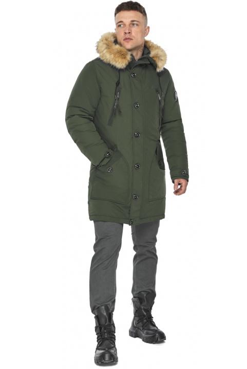 """Парка – воздуховик стильний чоловічий зимовий колір хакі модель 30118 Braggart """"Angel's Fluff Man"""" фото 1"""