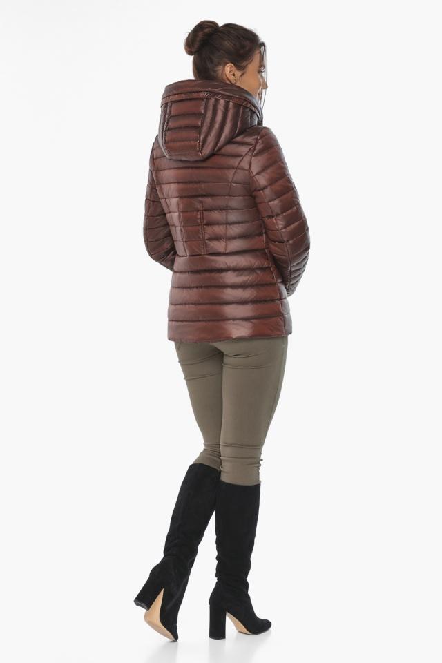 """Куртка комфортная каштановая женская модель 63045 Braggart """"Angel's Fluff"""" фото 7"""