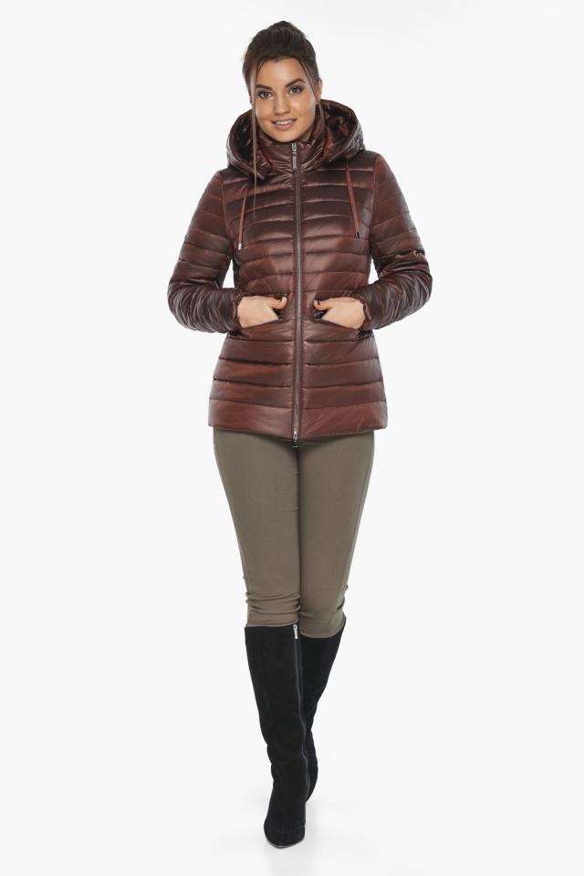 """Куртка комфортная каштановая женская модель 63045 Braggart """"Angel's Fluff"""" фото 2"""