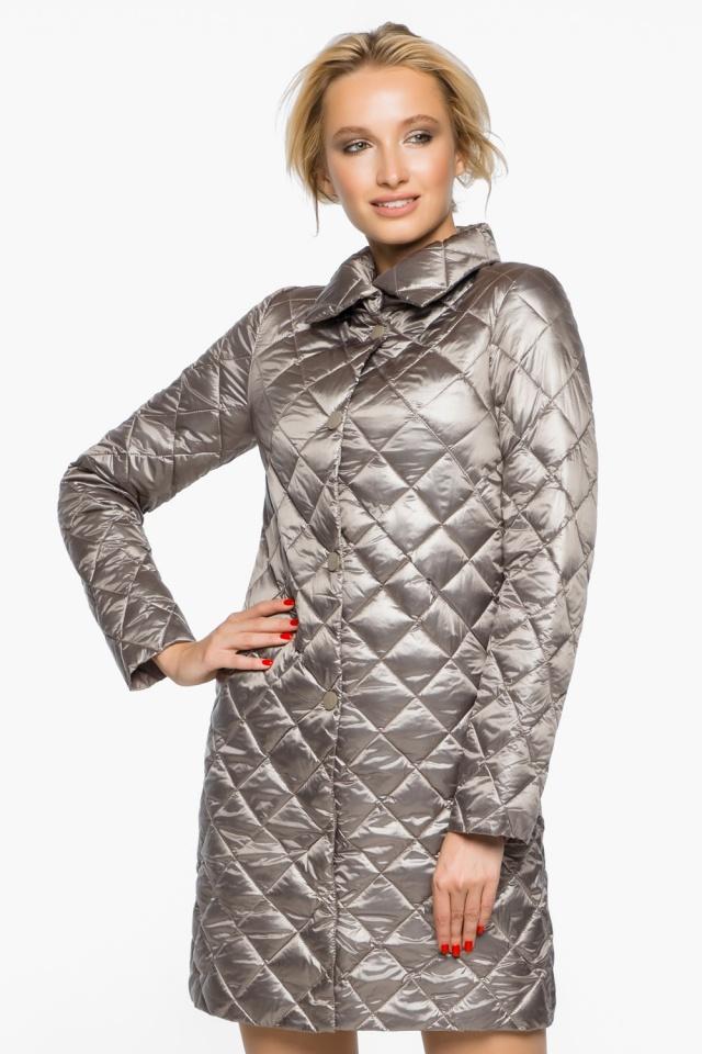 """Куртка женская осенне-весенняя цвет кварцевый модель 20856 Braggart """"Angel's Fluff"""" фото 3"""