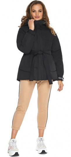 Осіння куртка легкого крою для дівчини чорна модель 21045 Youth фото 1