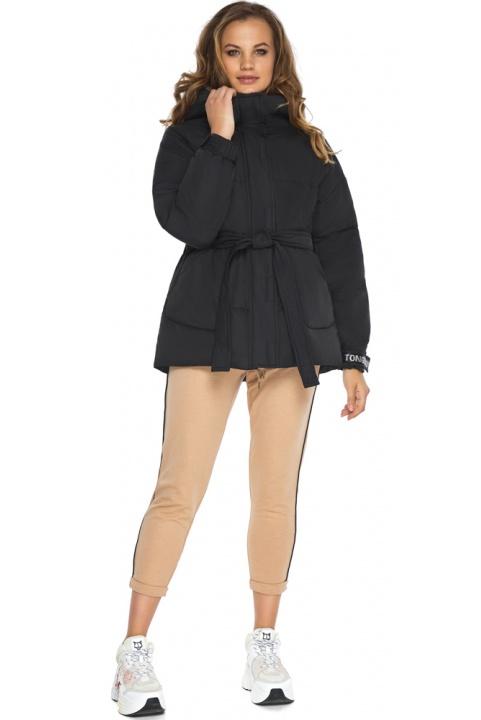 Осенняя куртка лёгкого кроя для девушки чёрная модель 21045 Youth фото 1