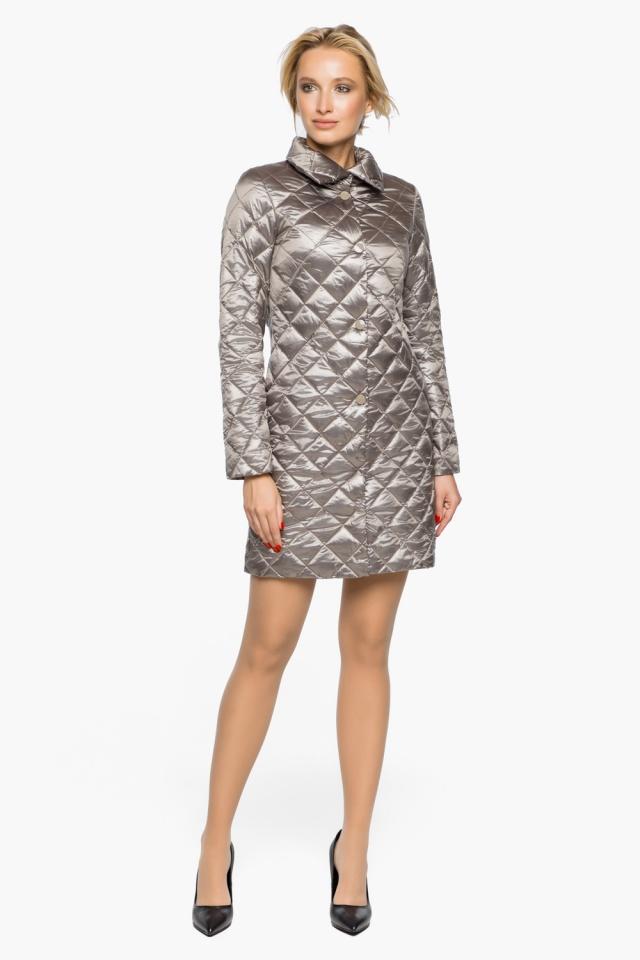 """Куртка женская осенне-весенняя цвет кварцевый модель 20856 Braggart """"Angel's Fluff"""" фото 2"""