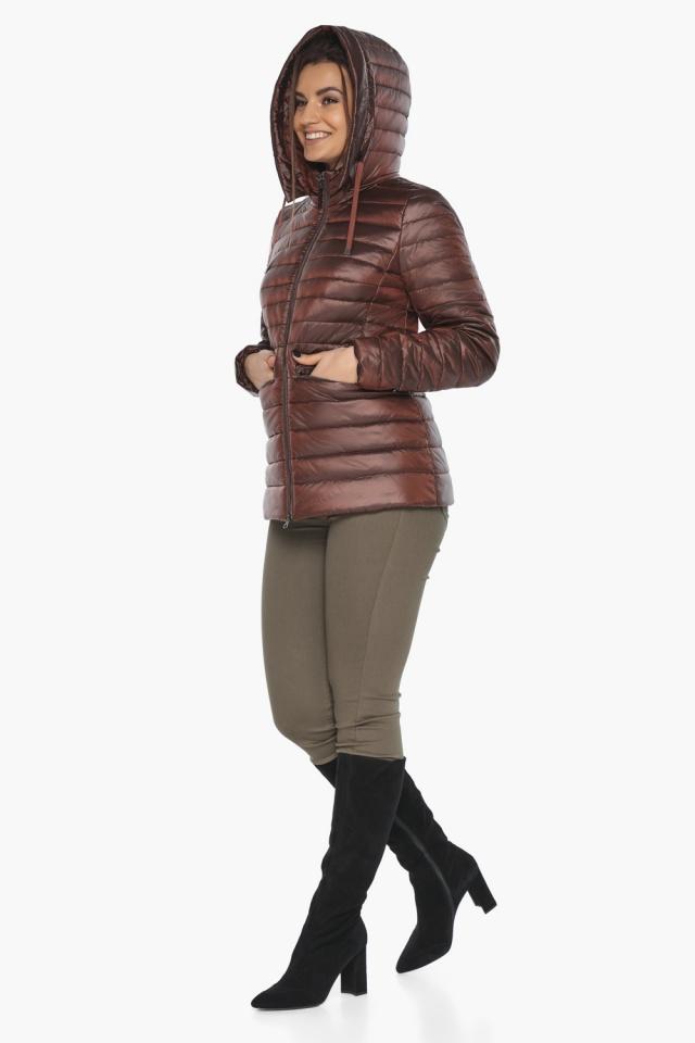 """Куртка комфортная каштановая женская модель 63045 Braggart """"Angel's Fluff"""" фото 5"""