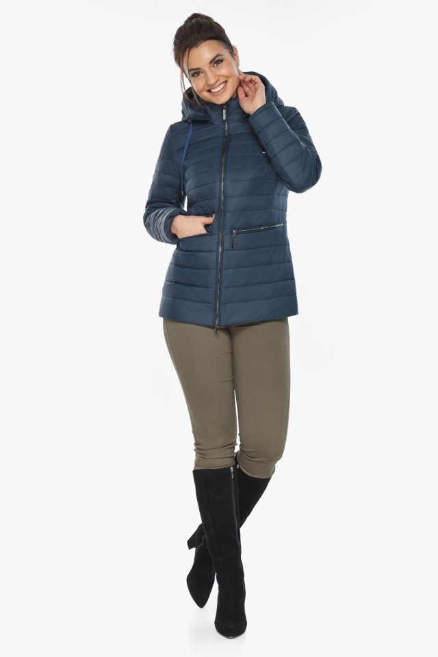 """Брендова синя куртка жіноча модель 63045 Braggart """"Angel's Fluff"""" фото 4"""