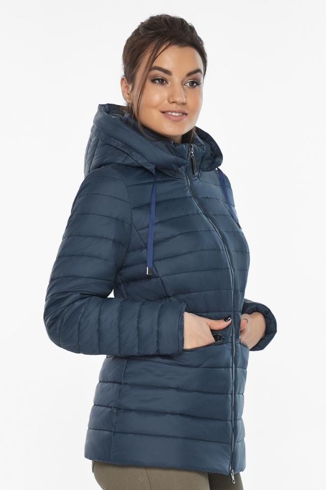 """Брендова синя куртка жіноча модель 63045 Braggart """"Angel's Fluff"""" фото 3"""