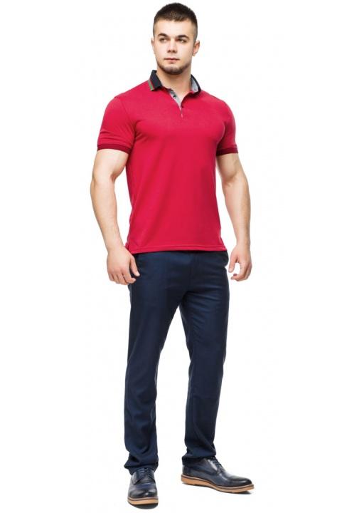 Зручна чоловіча червона футболка поло модель 6285 Braggart фото 1