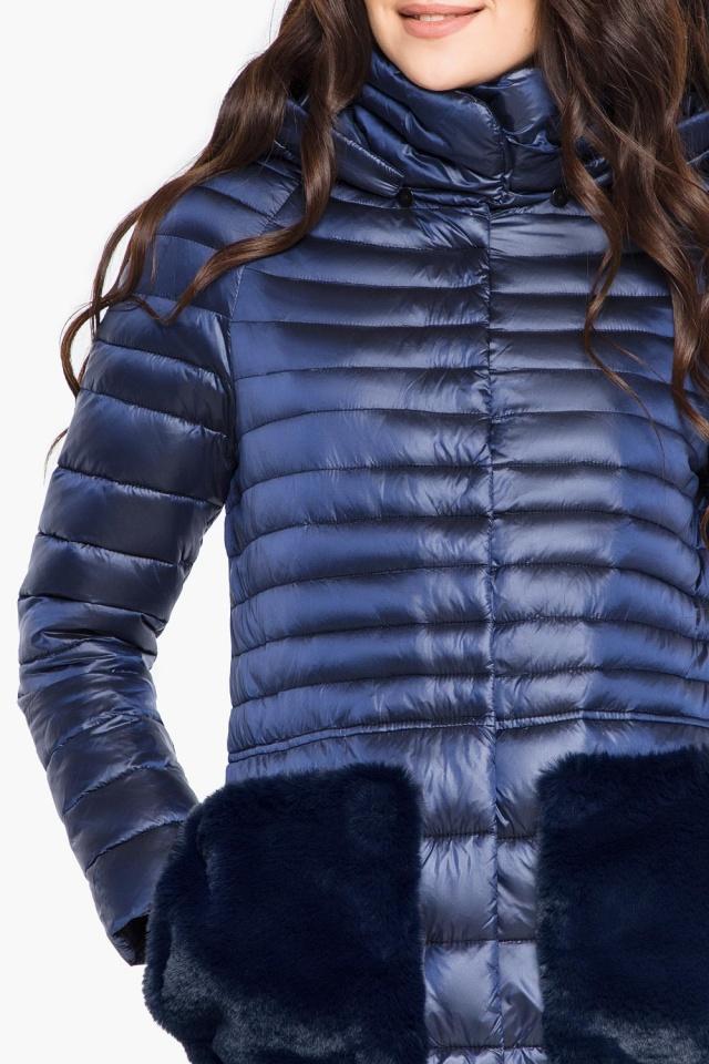 """Сапфировая осенне-весенняя женская куртка модель 15115 Braggart """"Angel's Fluff"""" фото 6"""