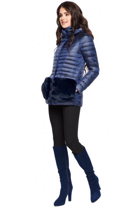 """Сапфировая осенне-весенняя женская куртка модель 15115 Braggart """"Angel's Fluff"""" фото 1"""