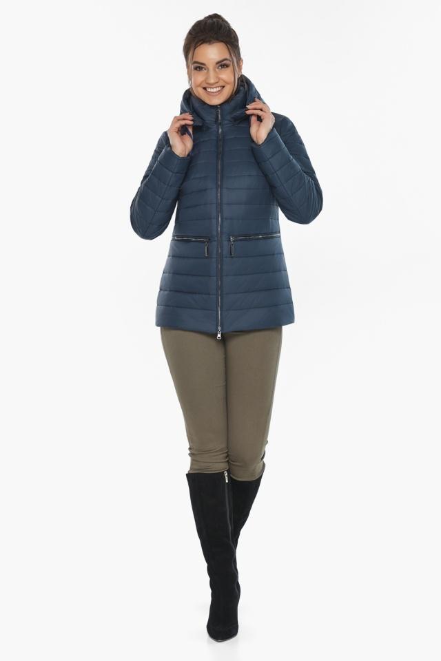 """Брендова синя куртка жіноча модель 63045 Braggart """"Angel's Fluff"""" фото 2"""