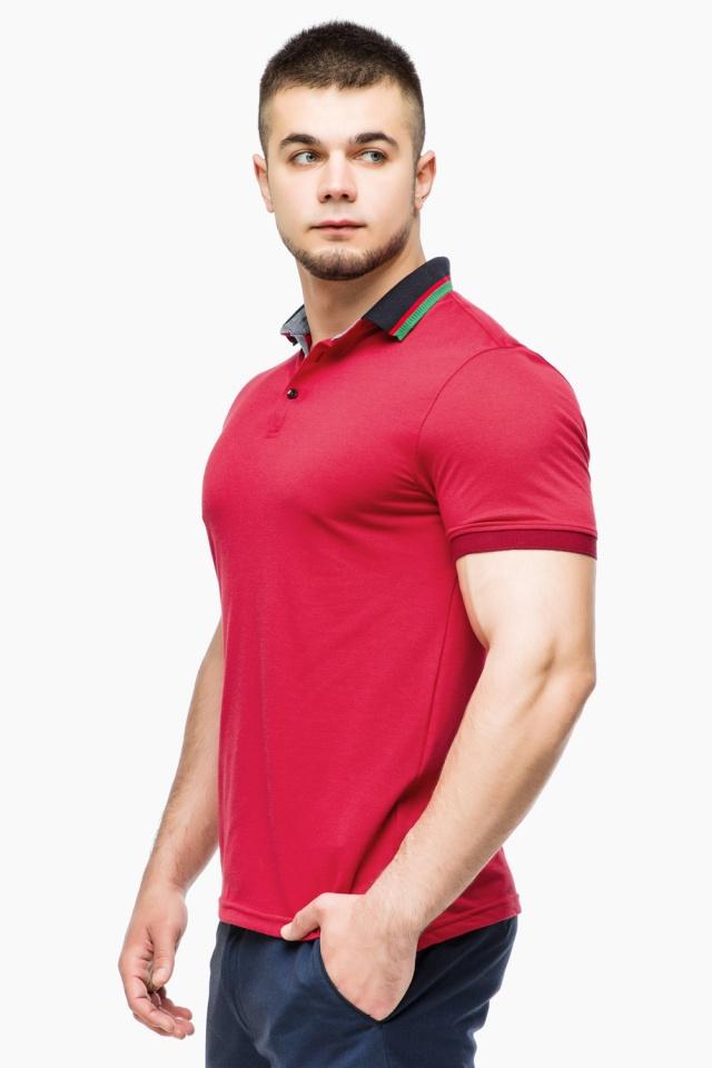 Удобная мужская красная футболка поло модель 6285