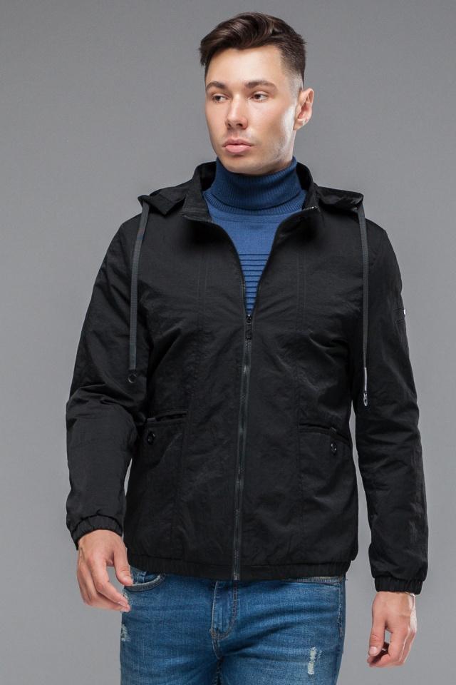 """Ветровка черная подростковая осенняя с карманами модель 38399 Braggart """"Youth"""" фото 3"""
