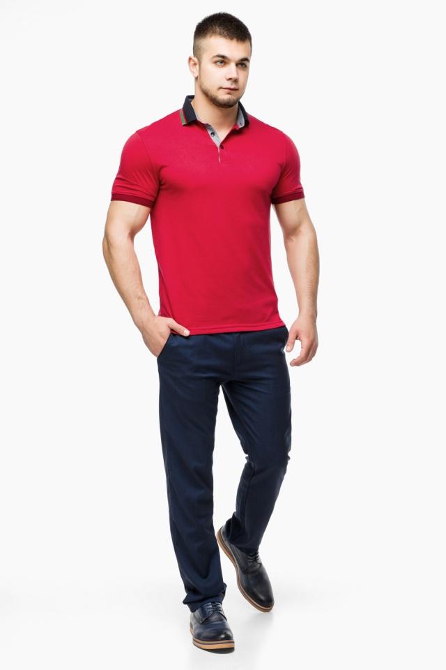 Зручна чоловіча червона футболка поло модель 6285 Braggart фото 4
