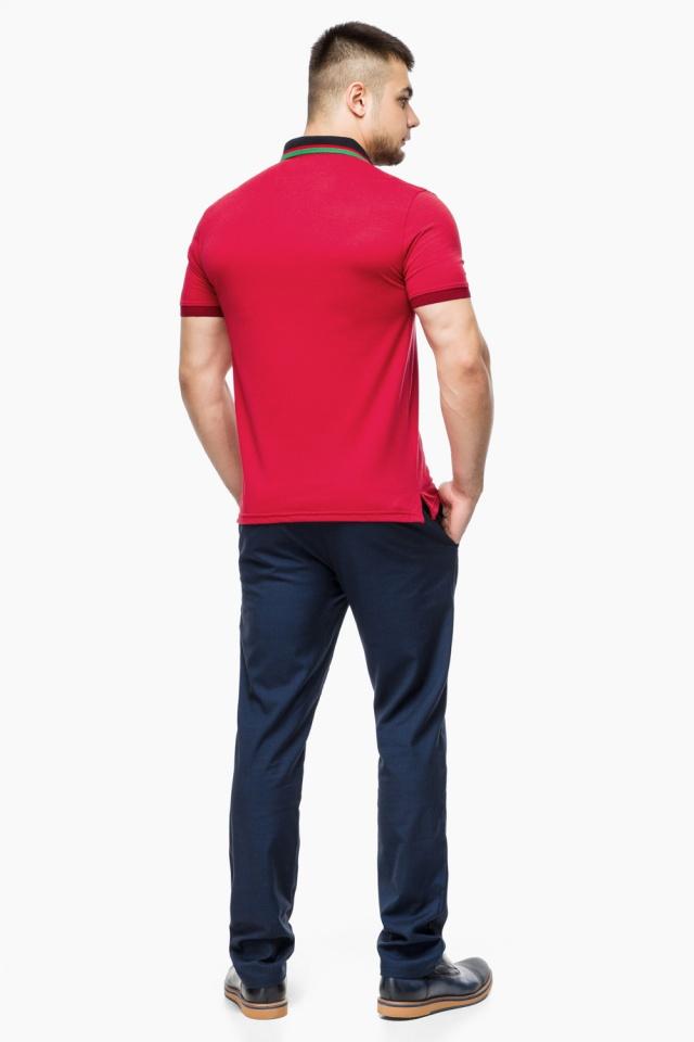 Зручна чоловіча червона футболка поло модель 6285 Braggart фото 5