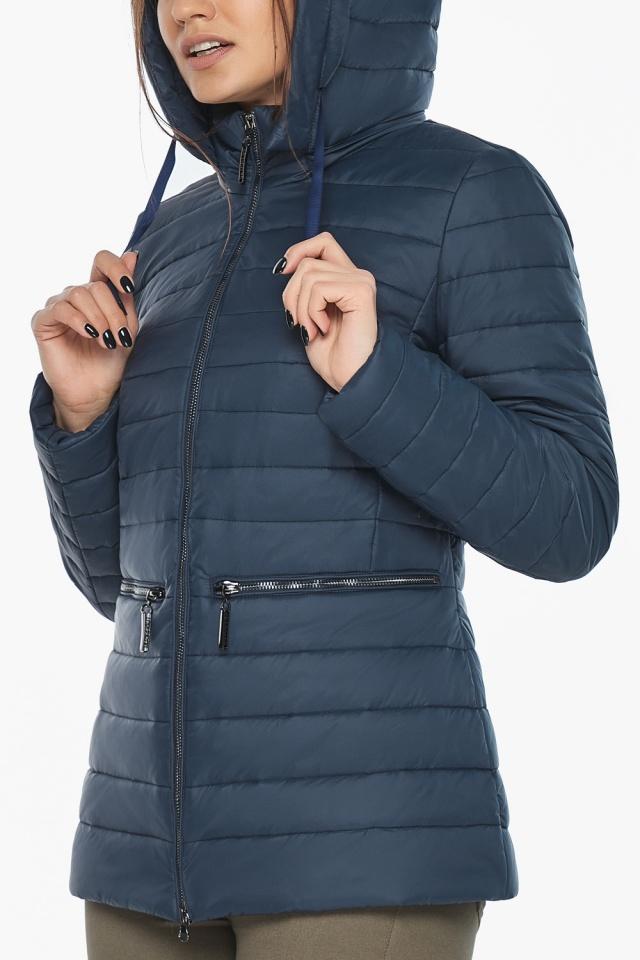 """Брендова синя куртка жіноча модель 63045 Braggart """"Angel's Fluff"""" фото 8"""