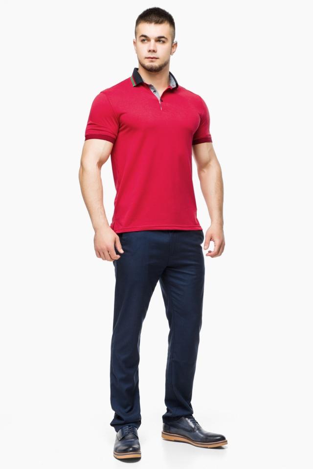 Зручна чоловіча червона футболка поло модель 6285 Braggart фото 2