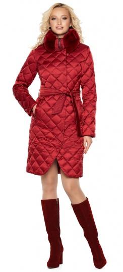 """Женская куртка рубинового цвета фирменная модель 31030 Braggart """"Angel's Fluff"""" фото 1"""