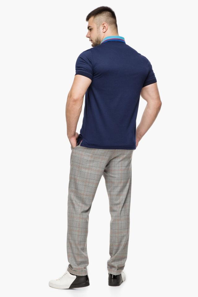 Легкая футболка поло мужская цвет темно-синий-голубой модель 6285 Braggart фото 5