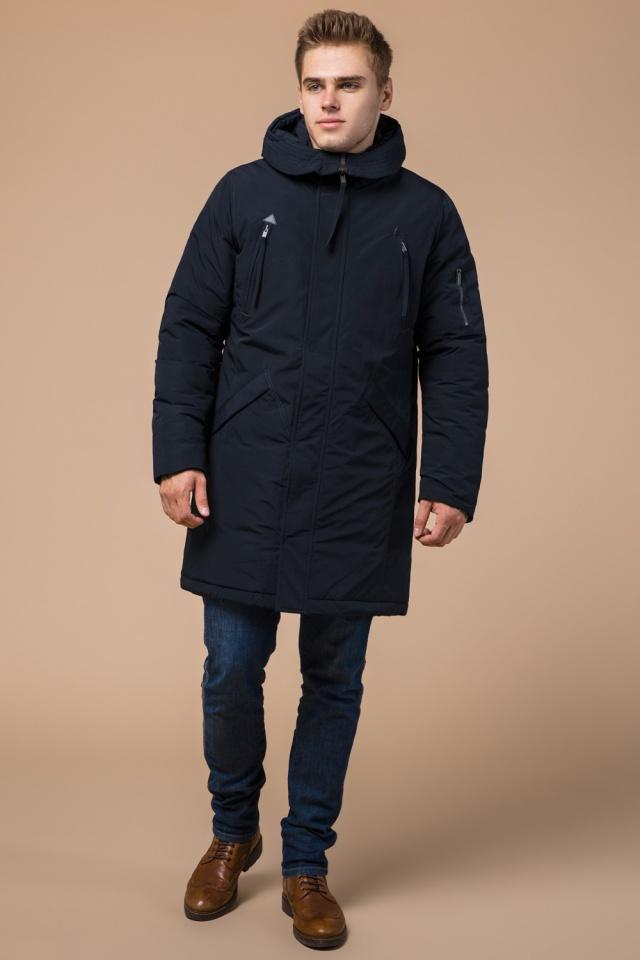 """Мужская зимняя парка темно-синяя модель 23675 Braggart """"Arctic"""" фото 2"""