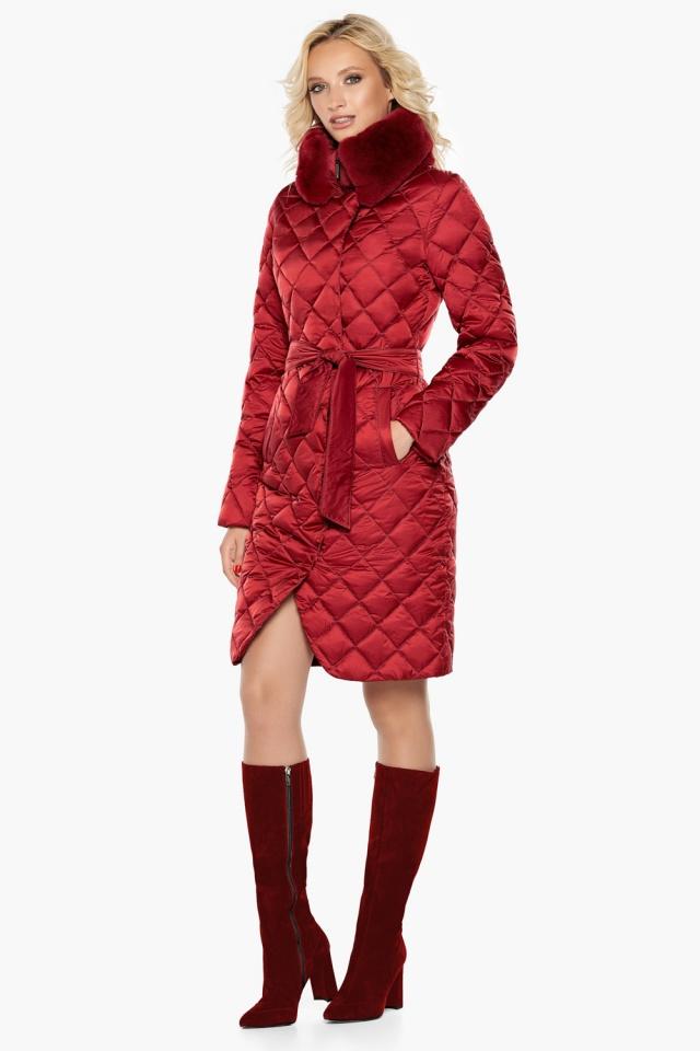 """Женская куртка рубинового цвета фирменная модель 31030 Braggart """"Angel's Fluff"""" фото 3"""