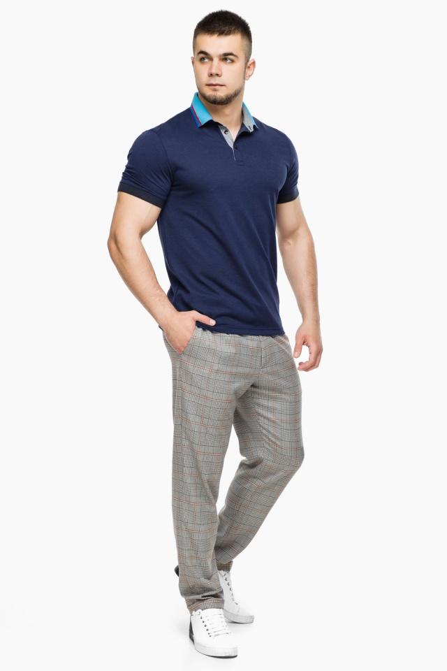 Легкая футболка поло мужская цвет темно-синий-голубой модель 6285 Braggart фото 2