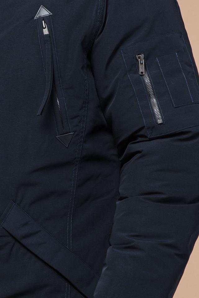 """Мужская зимняя парка темно-синяя модель 23675 Braggart """"Arctic"""" фото 7"""