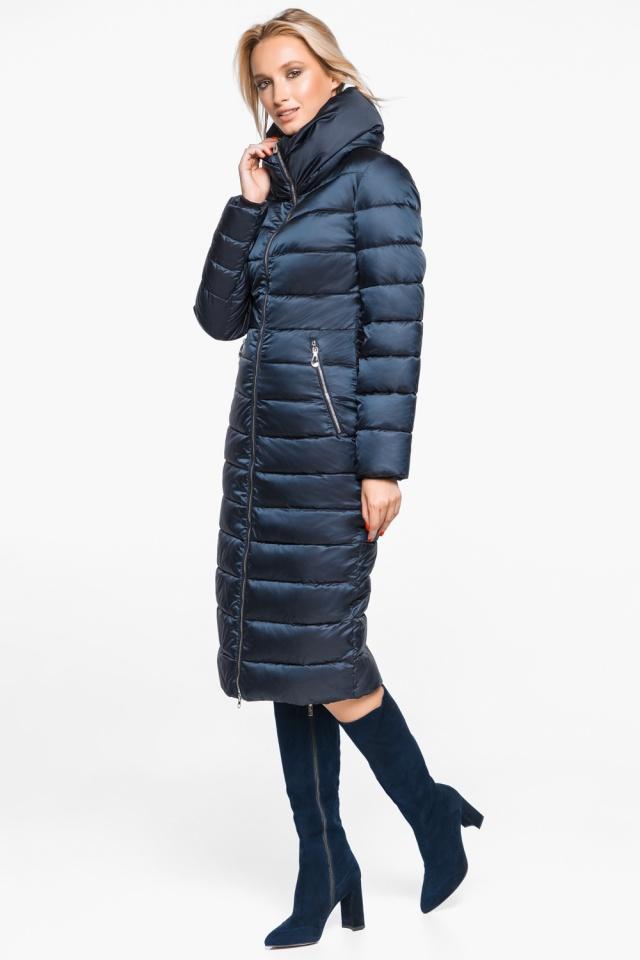 """Сапфировая куртка с карманами женская осенне-весенняя модель 31074 Braggart """"Angel's Fluff"""" фото 3"""