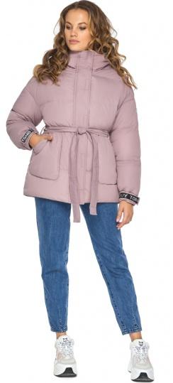 Осіння куртка з приспущеним рукавом пудрова модель 21045 Youth фото 1