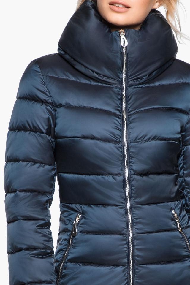 """Сапфировая куртка с карманами женская осенне-весенняя модель 31074 Braggart """"Angel's Fluff"""" фото 8"""