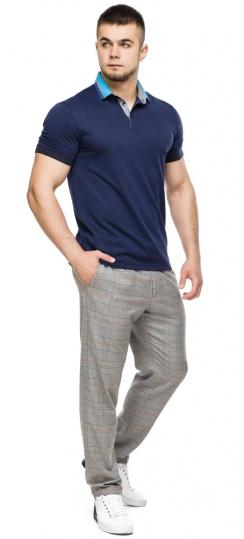 Легкая футболка поло мужская цвет темно-синий-голубой модель 6285 Braggart фото 1