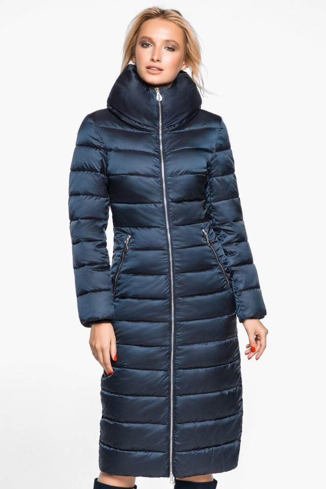 """Сапфировая куртка с карманами женская осенне-весенняя модель 31074 Braggart """"Angel's Fluff"""" фото 4"""