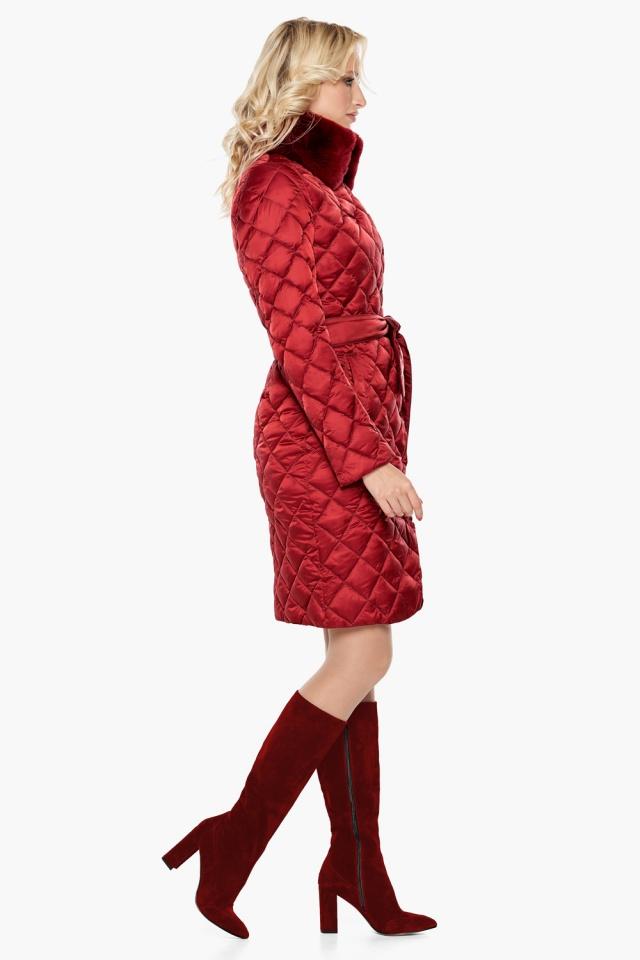"""Женская куртка рубинового цвета фирменная модель 31030 Braggart """"Angel's Fluff"""" фото 5"""
